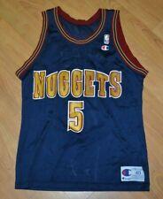 VTG OG Champion Denver Nuggets Jalen Rose Basketball Jersey 40 Nice NBA