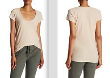 JAMES PERSE WSVH3182CU Deep V-Neck TEE Shirt Top LIMS ( Blush ) Sz 3