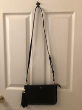 AUTHENTIC Tory Burch Tassel Crossbody Bag Black Pebbled Leather- Ret$ 248-NWT!!
