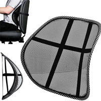 MESH BACK SUPPORT LUMBAR LOWER CUSHION BACK PAIN RELIEF LUMBER CAR SEAT·OFFICE#