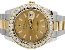 Brand New Mens Rolex Datejust II 41MM 116333 Two Tone Diamond Watch 4.75 Ct