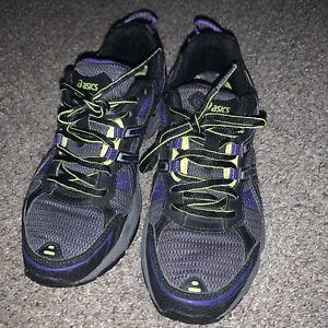T383N Asics Gel-Venture 4 Size 7 Women Running Training Shoes Purple Black EUC