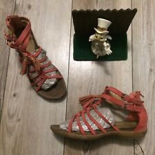 Ruff Hewn MISTY Salmon Coral Gladiator Sandals Minimal Wear 9 M