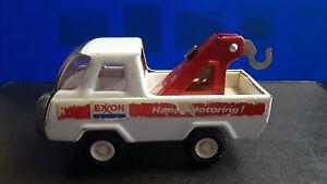 Vtg Collectible Diecast Buddy L Exxon Tow Truck Wrecker Exxon Happy Motoring