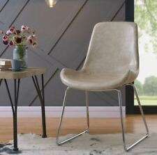 Otis, Modern Accent Chair Faux Leather 2 Colours Blue or Ivory