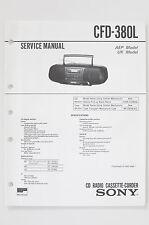 Sony cfd-380l ORIGINAL MANUAL DE SERVICIO/Instrucciones/ESQUEMA CONEXIONES +