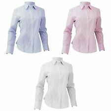 Hip Length Blouse Cotton Collared Tops & Shirts for Women