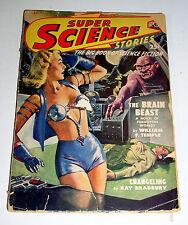SUPER SCIENCE STORIES  JULY 1949  RAY BRADBURY & ARTHUR C. CLARK Free Shipping