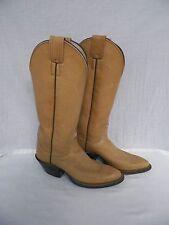 Vintage Pair Olathe Cowboy Boots Kansas 4059 60 89295 Size 5-1/2 B 5.5 Tan USA