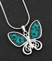 Equilibrium Eternal Flowers Silver Plated Butterfly Necklace in Gift Box