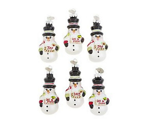 2015 Radko Set of 6 Snowman Mini Ornament with 1 Dated 2015  Free Shippping