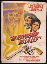 894 Mi Revolver es la Ley, original  Mexican Poster, Lucha Villa, Luis Aguilar