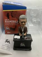 MLB Miami Marlins Felo Ramirez Baseball Talking Bobble Head Florida Announcer 17