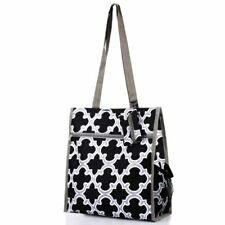 Zodaca Black Quatrefoil Lightweight All Purpose Handbag ZIPPER Carry Tote