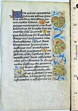 Deco.medieval BoH leaf,vellum, gold-washed border&initials,ca.1490
