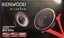 "Kenwood Excelon KFC X174 80 Watts RMS 6 1/2"" 6.5"" Flush Mount 2-Way Car Speakers"