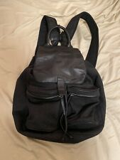 100% Auth Pre-Owned MCQ ALEXANDER MCQUEEN Backpack Bag Grey/Black