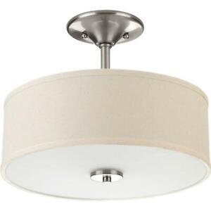 Progress Lighting Inspire Collection 13 in. 2-Light Brushed NickelBedroom