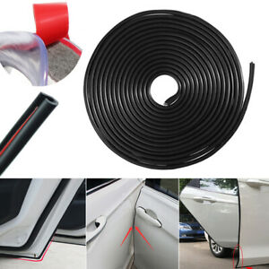 Black 9.6ft Universal Car Door Edge Rubber Protector Moulding Trim Guard Strip