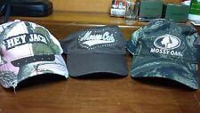 lot of 3 Pre-owned ladies mossy oak / duck dynasty Hats camo