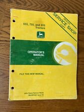 John Deere Tractor 655 755 855 Operators Manual Om-M70367 Service Shop Copy