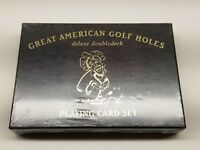 Vintage  Great American Golf Holes New in Box Playing Cards Double Deck Set