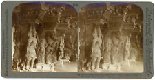 Stereo, Underwood & Underwood, Grotesque fancy and patient skill of Hindu sculpt