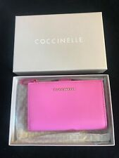BNIB COCCINELLE Ladies' Rose Pink Leather Bifold Wallet Gift Idea