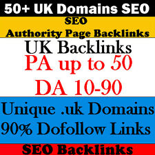 50+ UK Domains SEO Authority Page Backlinks - Website SEO -Website Traffic