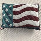 Americana July 4th 4th of July Wreath Red White Blue Flag Pillow Tapestry