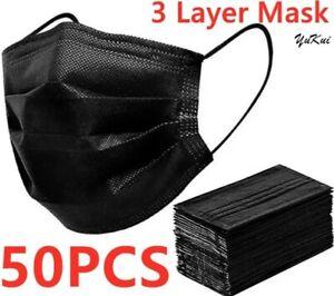 50 pièces Masque de protection noir adultes 3+1 GRATUIT