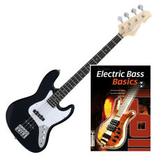BASS GUITARE ELECTRIQUE 21 FRETTES 4 CORDES 2 PICKUPS DE SINGLE COIL NOIR