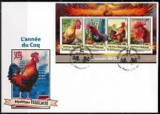 TOGO  2017   LUNAR YEAR OF THE ROOSTER SHEET  FIRST DAY COVER