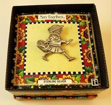 Mary Engelbreit Sterling Silver Pin Girl with Suitcase Vintage 1990s New in Box