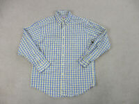 Brooks Brothers Button Up Shirt Adult Medium White Yellow Plaid Long Sleeve Mens
