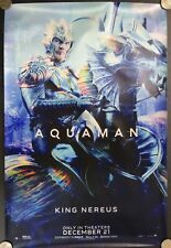 "Aquaman King Nereus Dc Comics 18"" Fabric 2018 Advertising Banner Movie Poster"