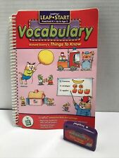 LeapFrog Vocabulary Richard Scarry's Things to Know K-Age 5 Book & Cartridge
