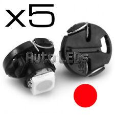 5 Rosso SMD LED T4.7 Neo Wedge 12v LAMPADINA LED Interni