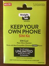 Straight Talk SIM Card For VERIZON CDMA Network Activation Kit Free Shipping