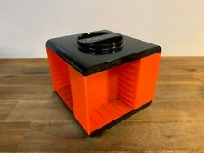 Vintage Audiosonic Audio Cassette Library Storage Spindle Carousel Orange