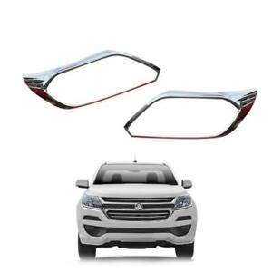 Fit 2016-2017 Chevrolet Colorado Head Lamp 4WD Cover Chrome Pair