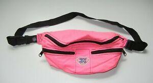 Vtg 90s REAR GEAR Neon Pink SKI TOTE FANNY PACK Snowboard Hiking Gym Waist Bag