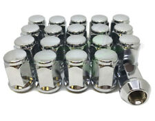 20 BULGE ACORN LUG NUTS 12X1.5 CHROME | FOR FORD FUSION ESCAPE TAURUS WHEELS