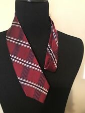 New BROOKS BROTHERS Burgundy Tartan Plaid Silk Neck Tie ~ MSRP $79.50 ~ NWT
