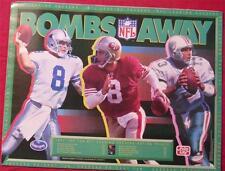 """1992 """"Bombs Away"""" Aikman, Young Marino Poster Frito Lay"""