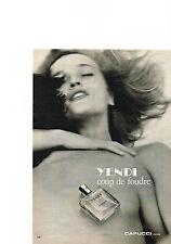 PUBLICITE ADVERTISING 033 1980   CAPUCCI   parfum YENDI                   180313