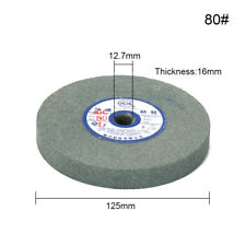 1pc 125mm 80# Disc Grinding Wheel Abrasive Disc  Polishing Stone Wheel For Bench