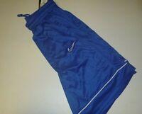 nike mens dri-fit basketball sports activewear mesh knit shorts sz: Lg - blue