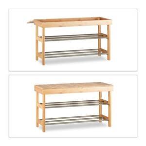 Relaxdays Shoe Storage Bench HWD: 43x74x30 cm