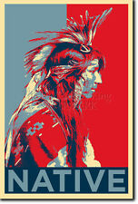 NATIVE AMERICAN ART PHOTO PRINT (OBAMA HOPE) POSTER GIFT INDIAN CLEE GERONIMO
